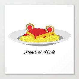Sailor moon meatball head Canvas Print