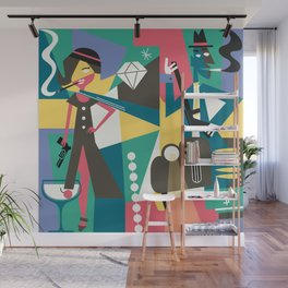 Gangster Couple Wall Mural