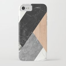 Marble and Wood Abstract iPhone 7 Slim Case
