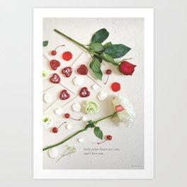 Valentine's Day Baby Polar Bear Quote Art Print