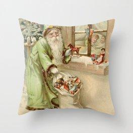 Santa Claus at the Window Throw Pillow