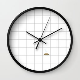 Pie Cooling on the Windowpane Pattern Wall Clock