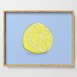 Lemon on Lavender Blue Serving Tray