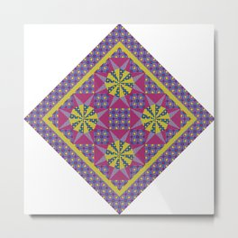 Any Day Geo Quilt Metal Print