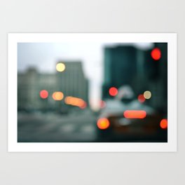Chicago Streets & City Lights Art Print