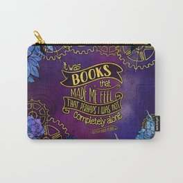 CP - Books Made Me Feel Not Alone (Purple) Carry-All Pouch