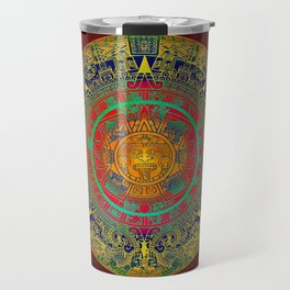 Aztec Sun God Travel Mug