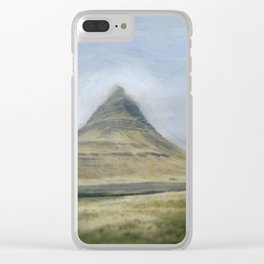 Iceland Mountain Clear iPhone Case