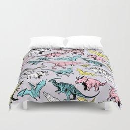 Pastel Dinosaurs Duvet Cover