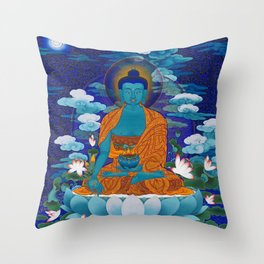 Medicine Buddha Throw Pillow