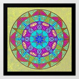 Water Clearing Mandala Art Print