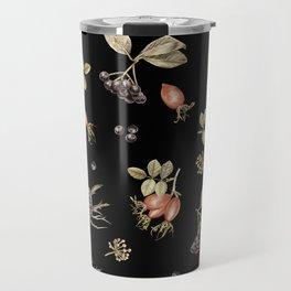 rosehip, chokeberries and teasel III Travel Mug