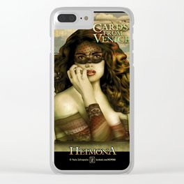 HEIMONA - CARDS FROM VENICE Clear iPhone Case