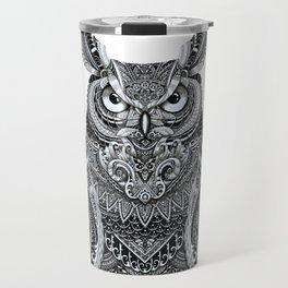 Fancy Great Horned Owl Travel Mug