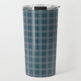 Christmas Winter Night Blue Tartan Check Plaid Travel Mug
