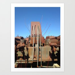 Willow and Generator (Merry Christmas Mine Part IV) Art Print