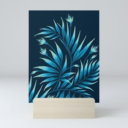 Waikiki Palm - Petrol Blue Mini Art Print