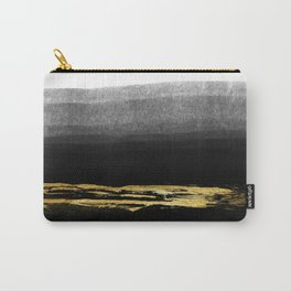 Black & Gold Stripes on White - Mix & Match with Simplicty of life Carry-All Pouch