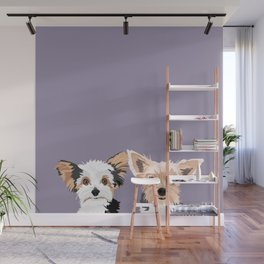 Two Yorkies Wall Mural