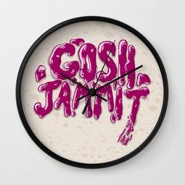 Gosh Jammit Wall Clock