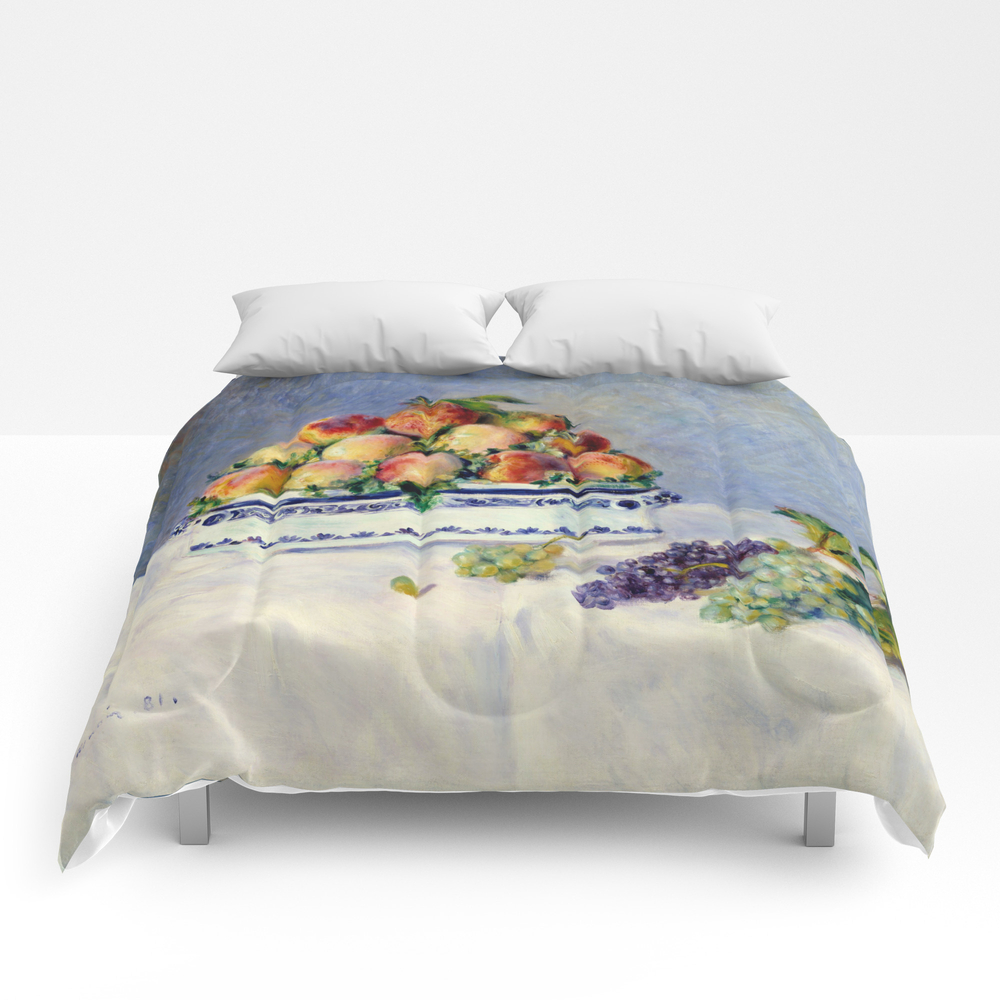 "Auguste Renoir """"still Life With Peaches And Grapes… Comforter by Alexandra_arts"" CMF9097175"