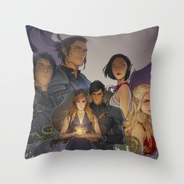 Wings and Ruin Throw Pillow
