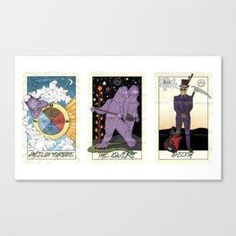 fall out tarot Canvas Print