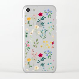 Spring Botanicals Clear iPhone Case