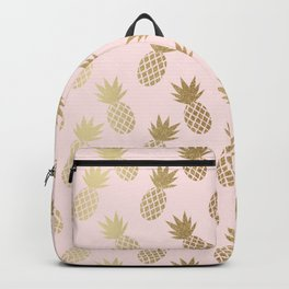 Pink & Gold Pineapples Backpack