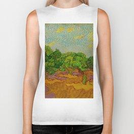 Olive Orchard November Oil Painting by Vincent van Gogh Biker Tank