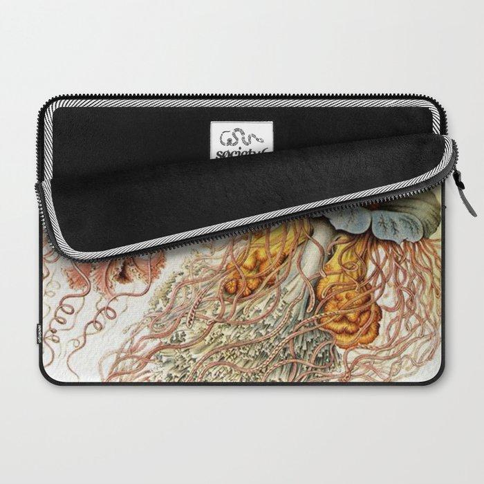SEA CREATURES COLLAGE-Ernst Haeckel Laptop Sleeve