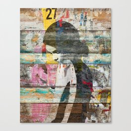 Shyness (Profile of Child) Canvas Print