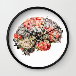 Flower Brain Wall Clock