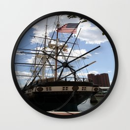 Old Glory - USS Constellation Wall Clock