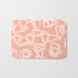 Sweet Life Triangle Dots Peach Coral Pink Bath Mat