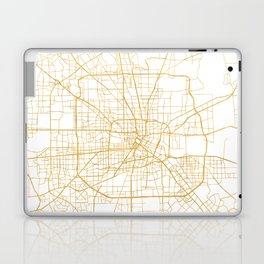 HOUSTON TEXAS CITY STREET MAP ART Laptop & iPad Skin