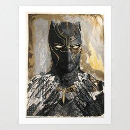 King of Wakanda Art Print
