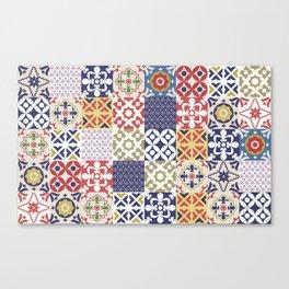 Portuguese pattern color Canvas Print