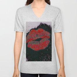 Lipstick Unisex V-Neck