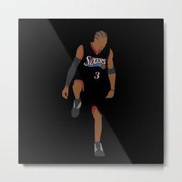 NBA Players   Allen Iverson over Lue Metal Print