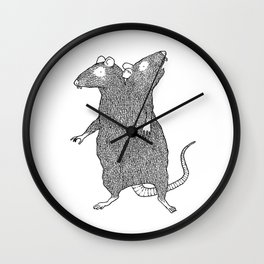 Two Headed Rat, I Love You Wall Clock