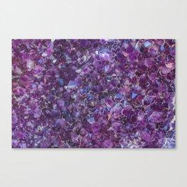 Purple Geode Canvas Print