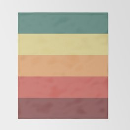 Retro Stripes Throw Blanket