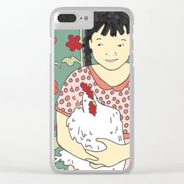 She Thought She Was a Chicken Clear iPhone Case