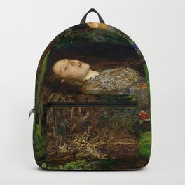 Ophelia from Hamlet Oil Painting by Sir John Everett Millais Backpack