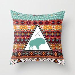 Navajo Buffalo Throw Pillow