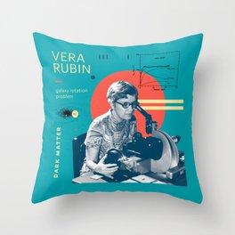 Beyond Curie: Vera Rubin Throw Pillow