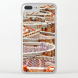 Traditional Lobster Traps Clear iPhone Case