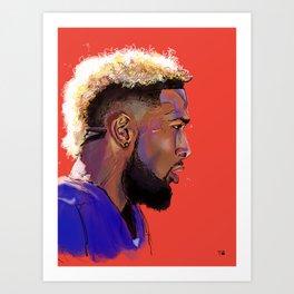 Odell Beckham Jr. Art Print