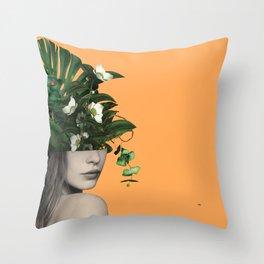 Lady Flowers Vlll Throw Pillow